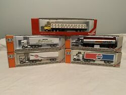Ho Con Cor . 4 Tractor Trailers And One Herpa Tractor Trailer