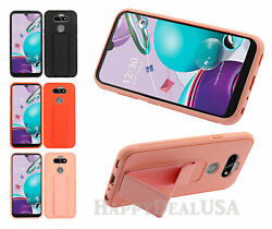 For Lg K31 | Aristo 5 - Multi-function Impact Cover Case W/hand Grip Strap Stand