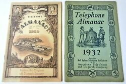 1932 And 1959 Bell Telephone Almanac