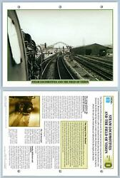 Steam Locomotives And Field Of Vision- Technical Data - Legendary Trains Maxi Card