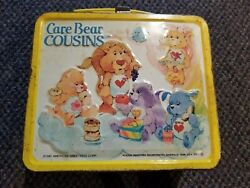 Rare Vintage 1985 Metal Yellow Care Bear Cousins Care Bears Lunchbox No Thermos