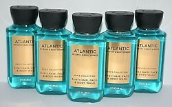 5 Bath And Body Works Atlantic Menand039s Collection 3 In 1 Hair Face And Body Wash Mini