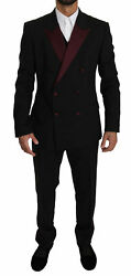 Dolce And Gabbana Suit Martini Black Double Breasted 3 Piece Eu50/us40/l Rrp 2800