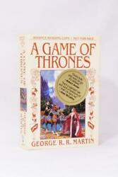 George R.r. Martin - A Game Of Thrones - Bantam Press 1996 Signed Proof.