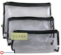 BL Sicara Clear Cosmetic Bag 3 Piece Bag Set Two PACK $22.06