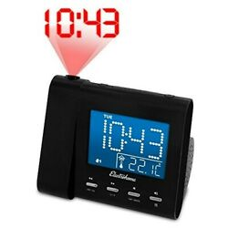 Used Electrohome Projection Alarm Clock w AM FM Radio Battery Backup Auto Time