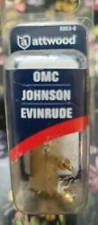 Attwood Fuel Tank Fitting 8883-6 Omc-johnson-evinrude For 1/4 Male Npt Threads