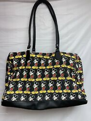 Vintage Mickey Mouse Disney Tote Bag Purse 1Pc Mickey Unlimited Black Red White $45.95