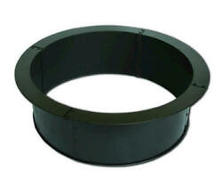 28 Black Round Porcelain Coated Steel Fire Pit Ring Outdoor Garden Wood Burning