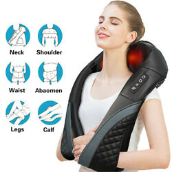Shiatsu Neck And Back Massager With Heat Deep Kneading Massage Pillow For Shoulder