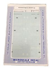 """Microscale Decal Ho Scale 87-558 Santa Fe Freight Cars 1998 With 24"""" Logo"""