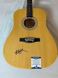 Willie Nelson Signed Acoustic Guitar Beckett Bas Coa T40332 Always On My Mind