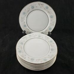English Garden Fine China Japan 1221 Set Of 6 Bread And Butter Plates 6-3/8