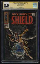 Nick Fury Agent Of Shield 6 Cgc 8.0 Ow/w Pgs Signatures Series Ss Jim Steranko