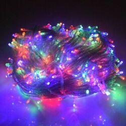 Led Christmas String Lights Outdoor Decors Multiple-color For New Yearand039s Garland