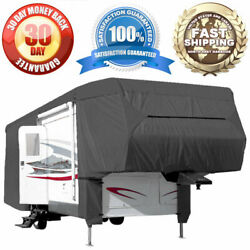Waterproof Cover 5th Wheel Travel Trailer Rv Motorhome Camper - Length 33and039 - 37and039
