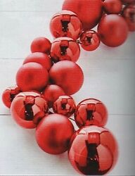 4' Ball Garland Red Plastic Home For The Holidays Raz Imports G3832771 New Cute