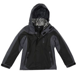 Boys Youth Mossi Static X Jacket Snow Coat Winter Cold Weather Black/grey
