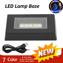 360° 7 Led Colored Light Display Stand Base Holders Accessory