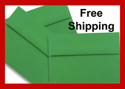 Holiday Green A7 Envelopes 5-1/4 X 7-1/4 For Up To 5 X 7 Greeting Cards Response