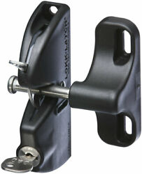 Stanley 1.56 In. H X 5.91 In. W Black Stainless Steel Automatic Gate Latch