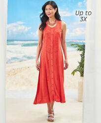 Women#x27;s Embroidered Button Front Sleeveless Dress $16.99