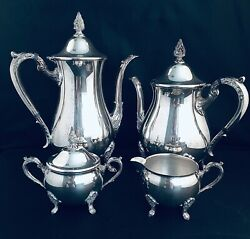 4 Pc Viners Coffee And Tea Service Set Silver Plated Vintage Excellent Condition