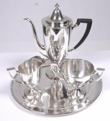 And Co. Makers 4pc Coffee Set .925 Sterling Silver 9h X 11d