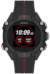 Watch Man Guess Watches Gents Connect C3001g1 Rubber, Black