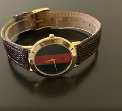 """Gucci gold 7 1 2"""" authentic men's timepiece new strap fast shp $399.99 $399.99"""