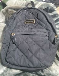 Marc Jacobs Quilted Nylon Designer Backpack Black Super Clean Retail over $150 $77.00