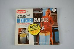 Vintage Kordite Kitchen Can Liners. Rare Advert Piece. Opened, No Year.