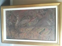 Francisco Toledo. In The Manner Of. Circle. Oil/sand On Canvass. Mexican Art.