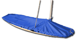 Butterfly Sailboat - Boat Mast Up Flat Cover - Polyester Royal Blue - Usa Made