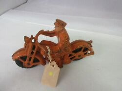 Vintage Cast Iron Hubley Motorcycle Toy Excellent Mint Condition 22-d