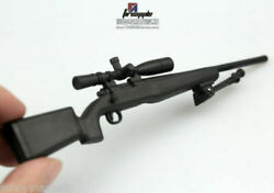 1/6 Plastic M40 Sniper Rifle Wooden Texture Weapon Toy 12'' Figure Accesory