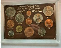 Complete Decimal Issue And The Last L. S. D. Issue Great Britain