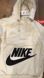 Supreme Nike Leather Anorak Jacket - Medium, White, Deadstock And Very Rare