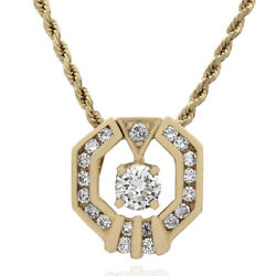 Diamond Drop On Rope Chain Necklace In 14k Yellow Gold