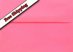 Hot Pink A7 Envelopes 5-1/4 X 7-1/4 For 5 X 7 Greeting Cards Invitations Shower
