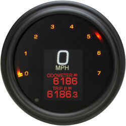 Dakota Digital Tank Speedometer - Black Bezel - 4.5 | Mlx-2000-k