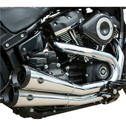 Sands Cycle Grand National 22 Softail Exhaust - Chrome | 550-0816a