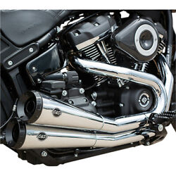 Sands Cycle Grand National 22 Softail Exhaust - Chrome   550-0816a