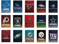 New Nfl Officially Licensed Faded Glory Fleece Throw Blanket 60 X 80 Northwest