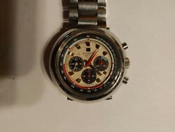 Tissot T12 .3 Registers Cronograph All Stainless. Steel 1970