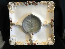 Amscan Home Traditional Square Chip And Dip Serving Tray With Stand