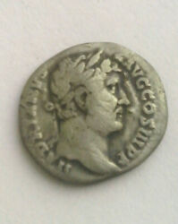 Ancient Silver Coin Hadrian Travels Asia 124ad