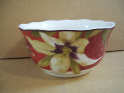 222 Fifth Belize Cereal Bowl Fine Porcelain 5.5 Top 3 1/4 Tall Good Condition