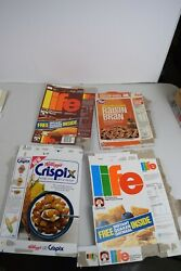 Vintage Life, Post, Kellogs Cereal Boxes. Box Only. Damaged. 1980's Or Earlier