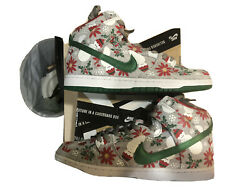 Nike Sb Dunk High Concepts Ugly Christmas Sweater Grey Size 10.5 Brand New